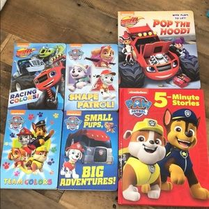 Nickelodeon paw patrol and blaze books